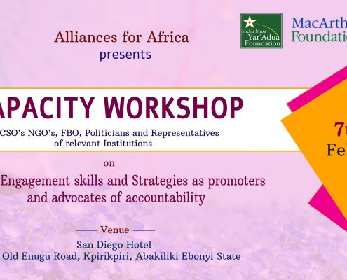 Report: Capacity Training on policy engagement skills and strategies as promoters and advocates of anti-corruption and accountability. MacArthur Project